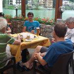 Ziel - Latte Macchiato auf der Hotel Terasse