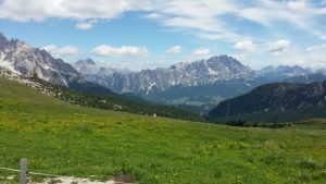Passo Giau Blick Richtung Cortina d' Ampezzo